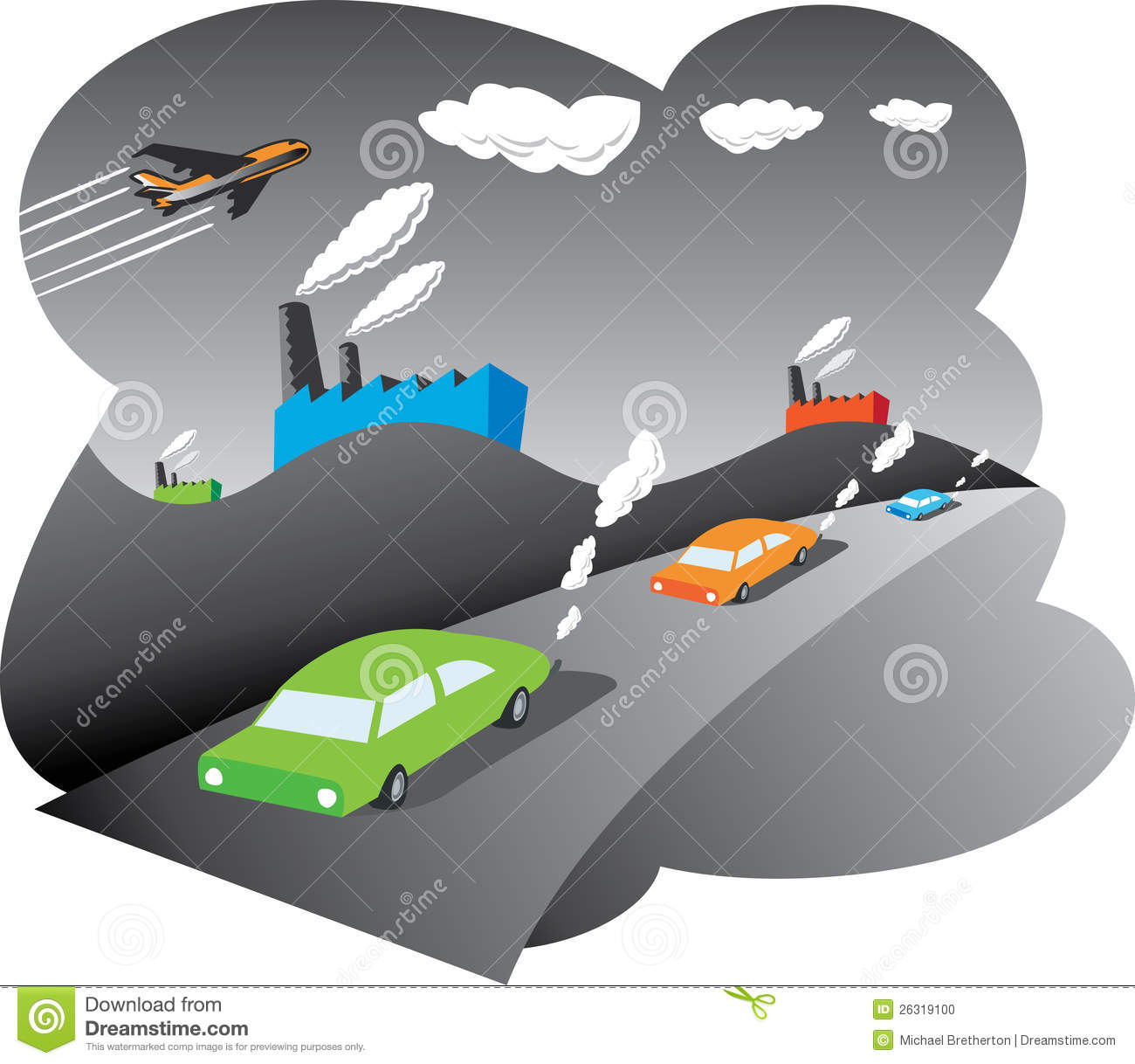 Air Pollution Stock Photo - Image: 26319100