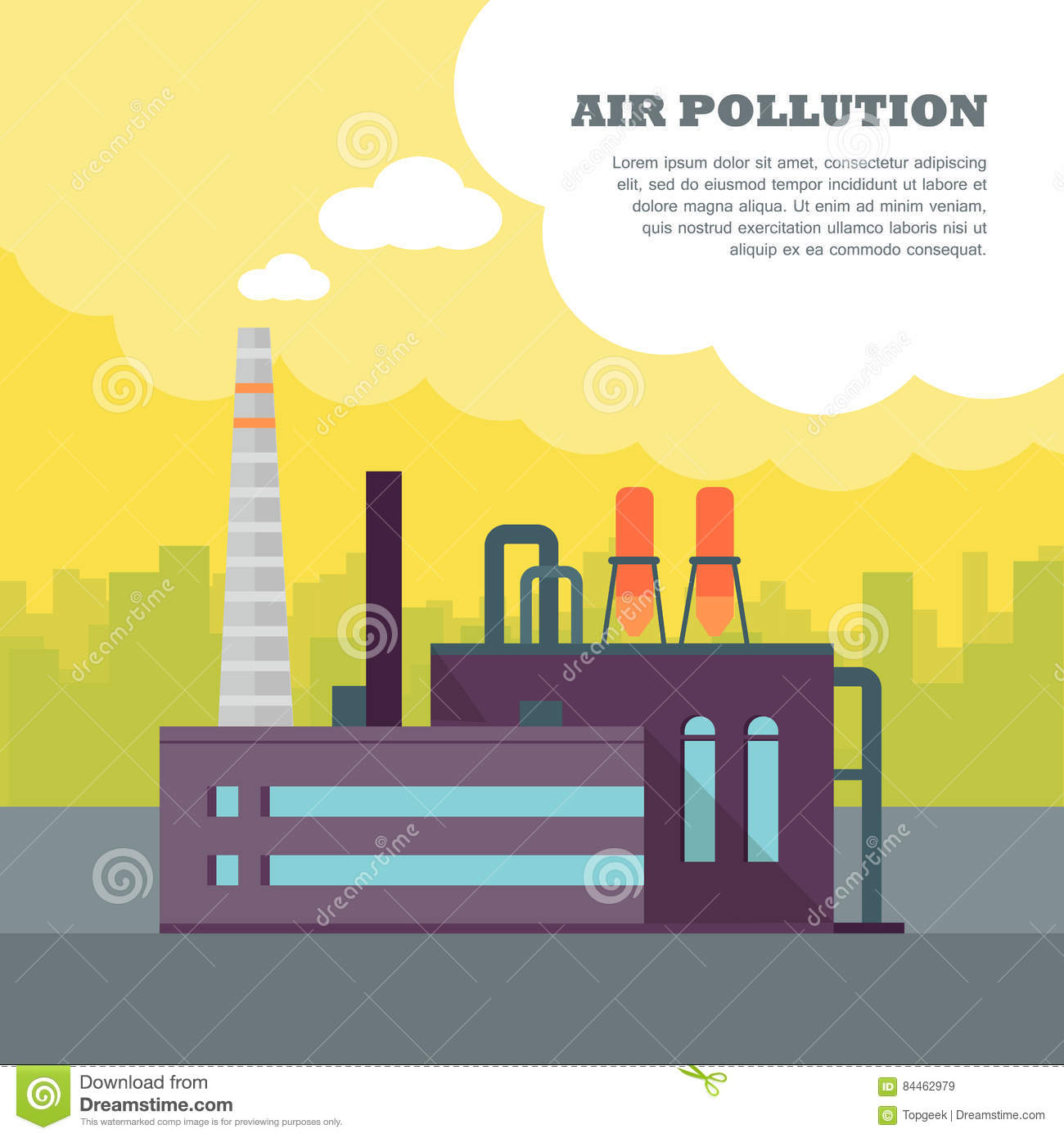 Air Pollution Smoke From Pipes And Factory Stock