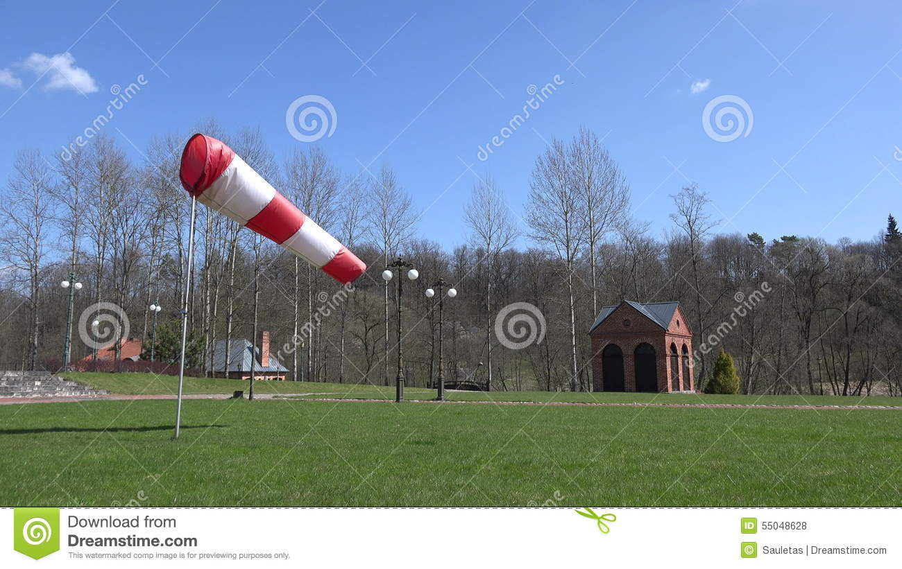 Air Sleeve Windsock Show Direction Of Wind In Park  4K Stock Footage