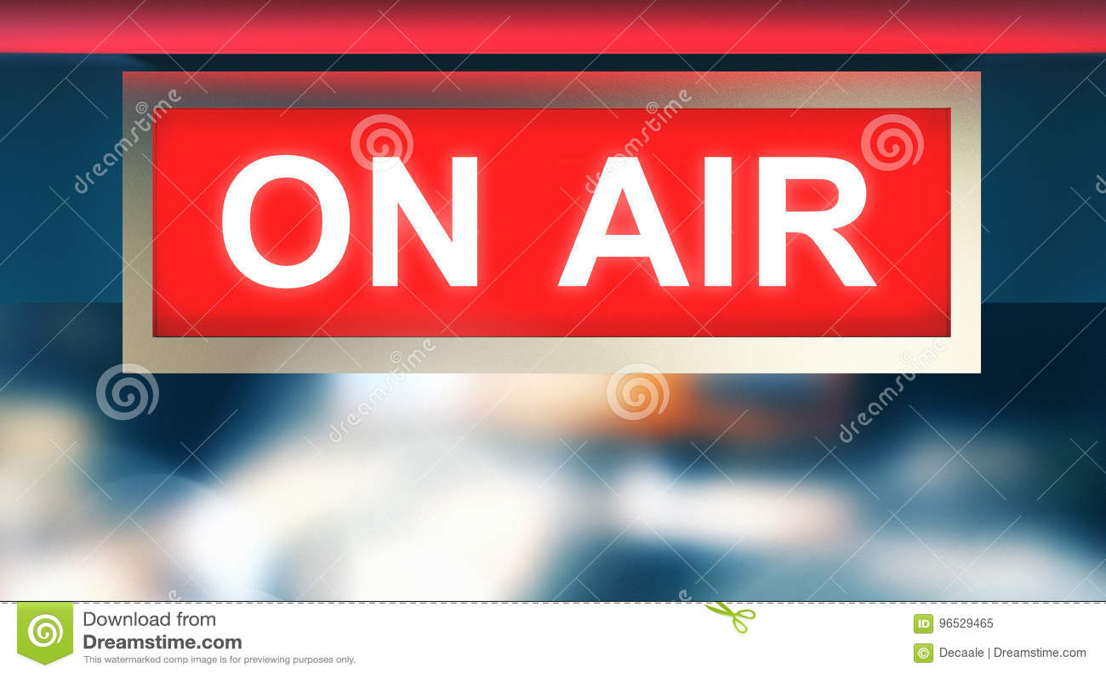 On Air Symbol Recording Studio 3d Render Stock Illustration