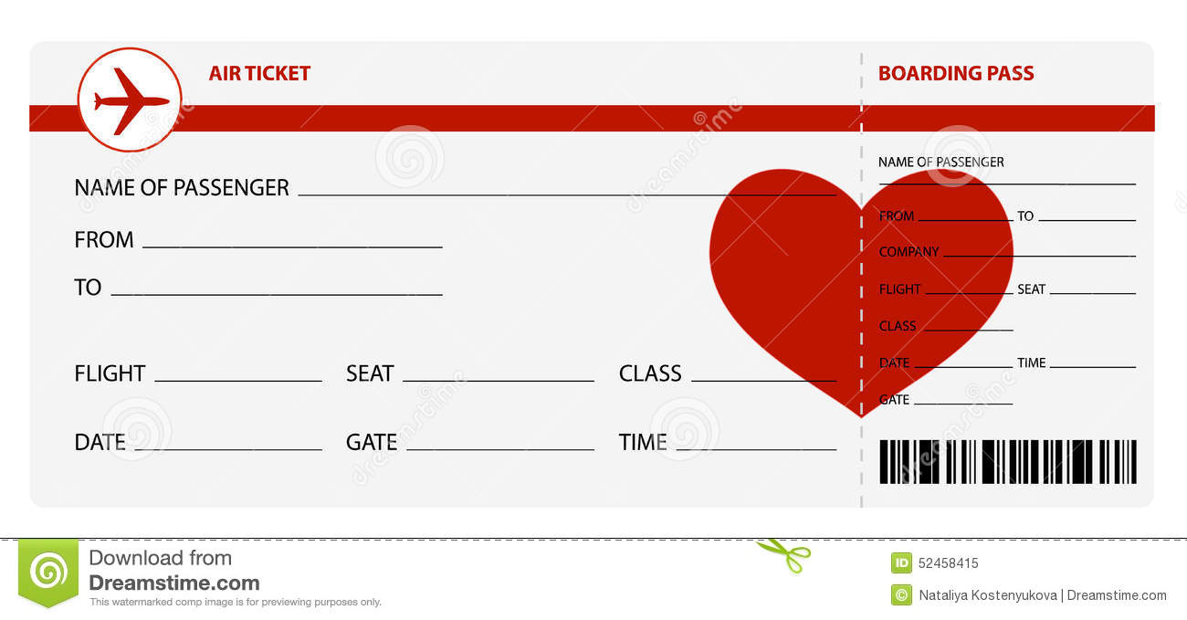 Air Ticket Stock Vector Image Of Leaving Flying Stamp 52458415 Air Ticket  Blank Plane Tickets Romantic Trip Isolated White Background Vector  Illustration ...  Free Printable Tickets For Events