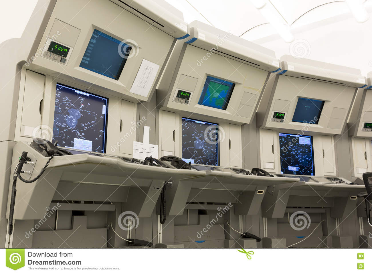 Air Traffic Control Station Stock Image - Image of airline
