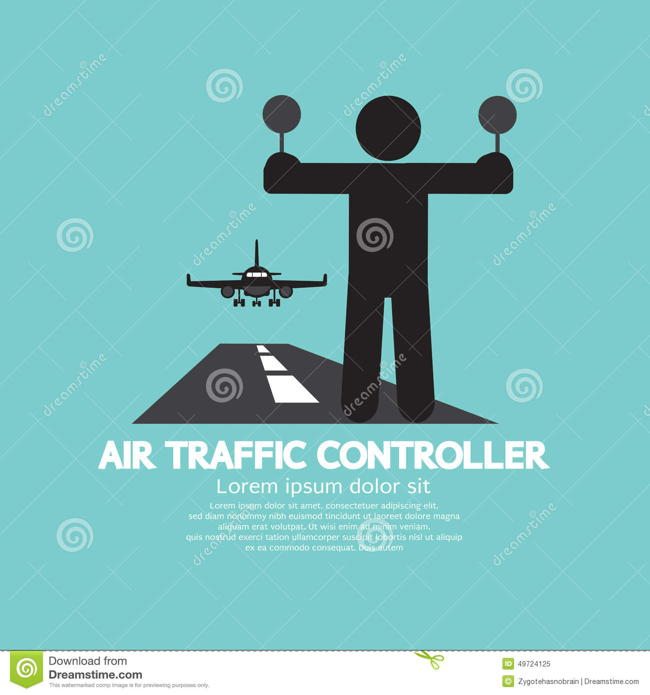 Air Traffic Controller Graphic Symbol Stock Vector Image