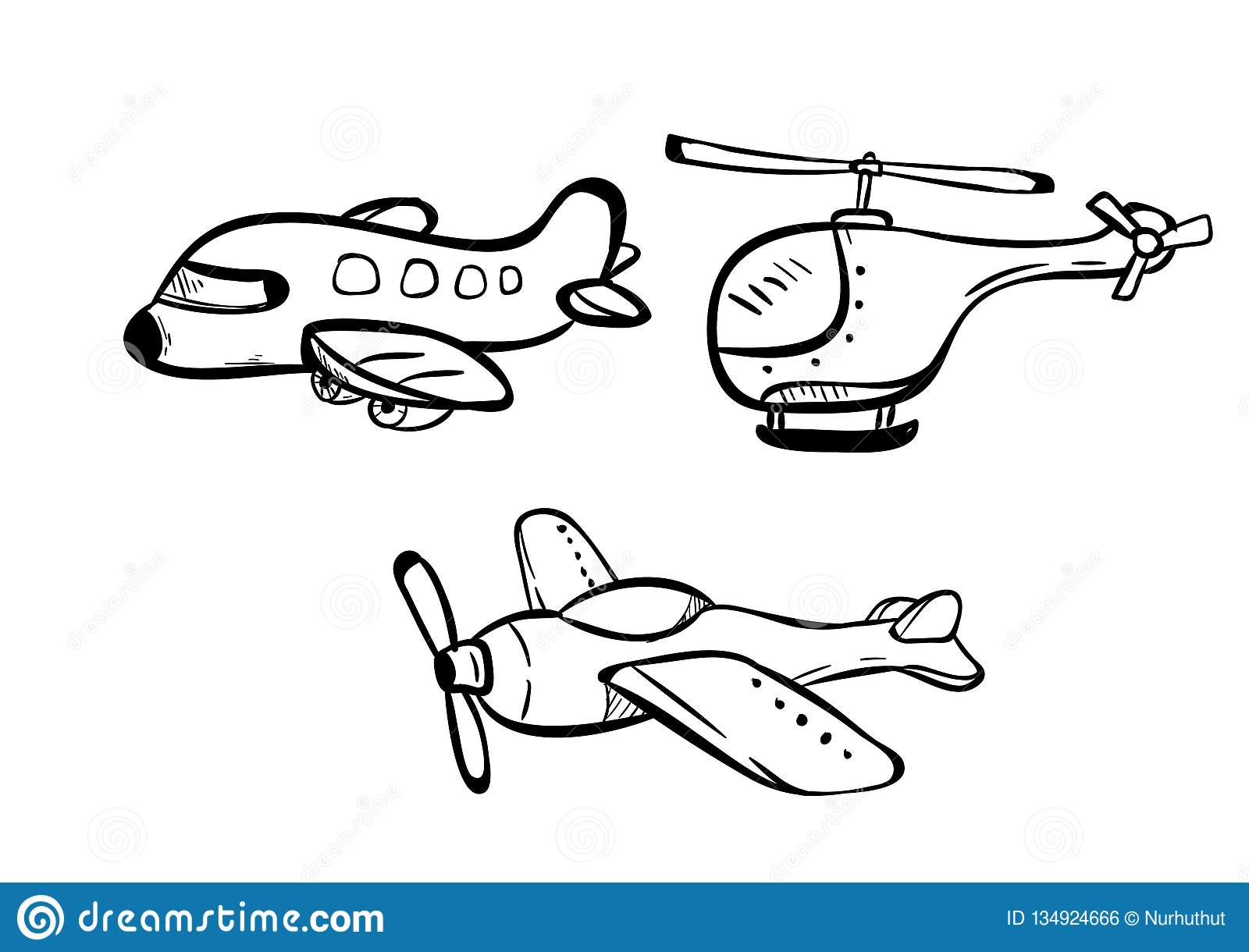 Air Transport Doodle Icon Vector Stock Vector Illustration Of