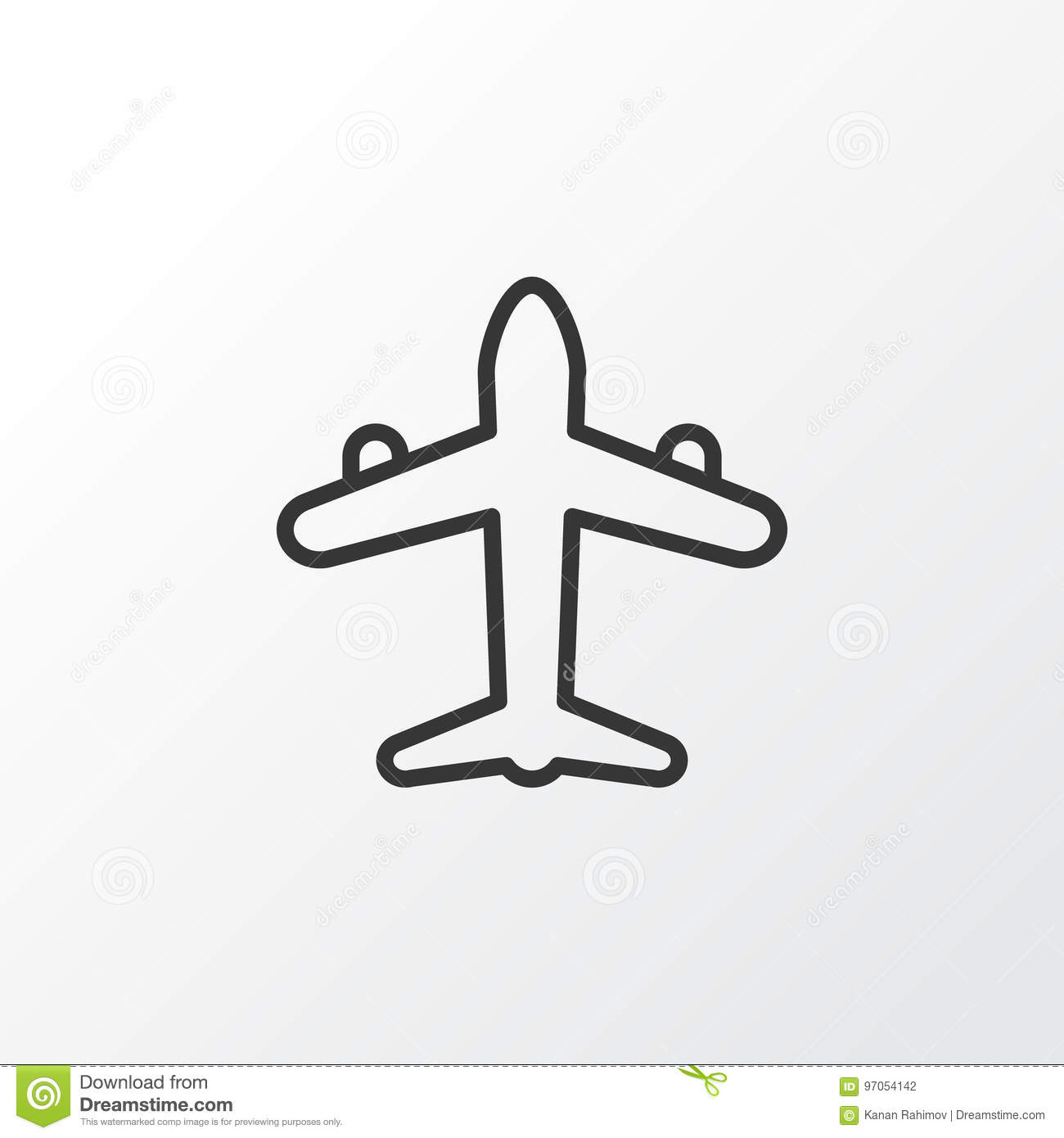 Air Transport Icon Symbol. Premium Quality Isolated Jet Element In Trendy Style.