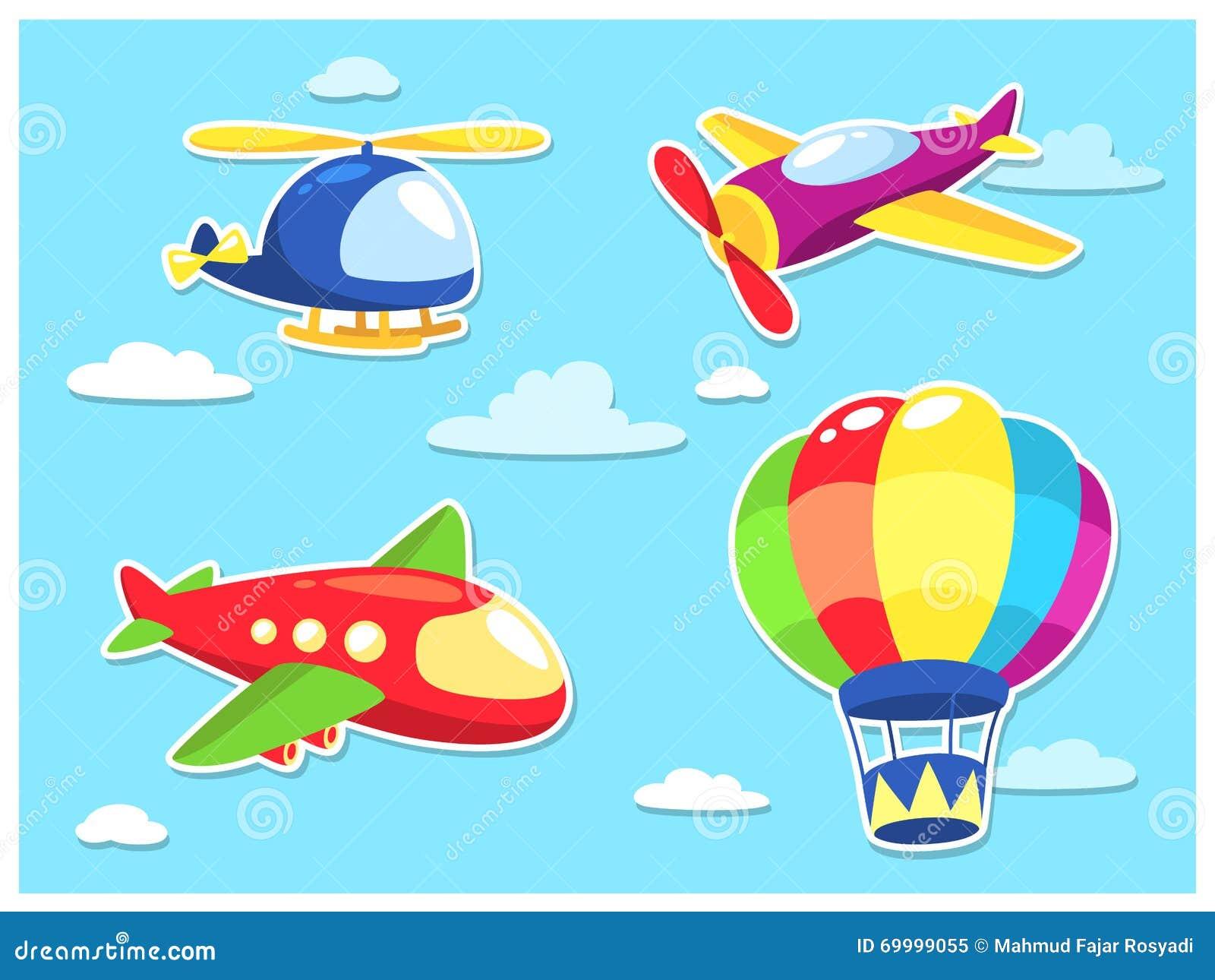 Air Transportation Cartoon Stock Vector Image 69999055