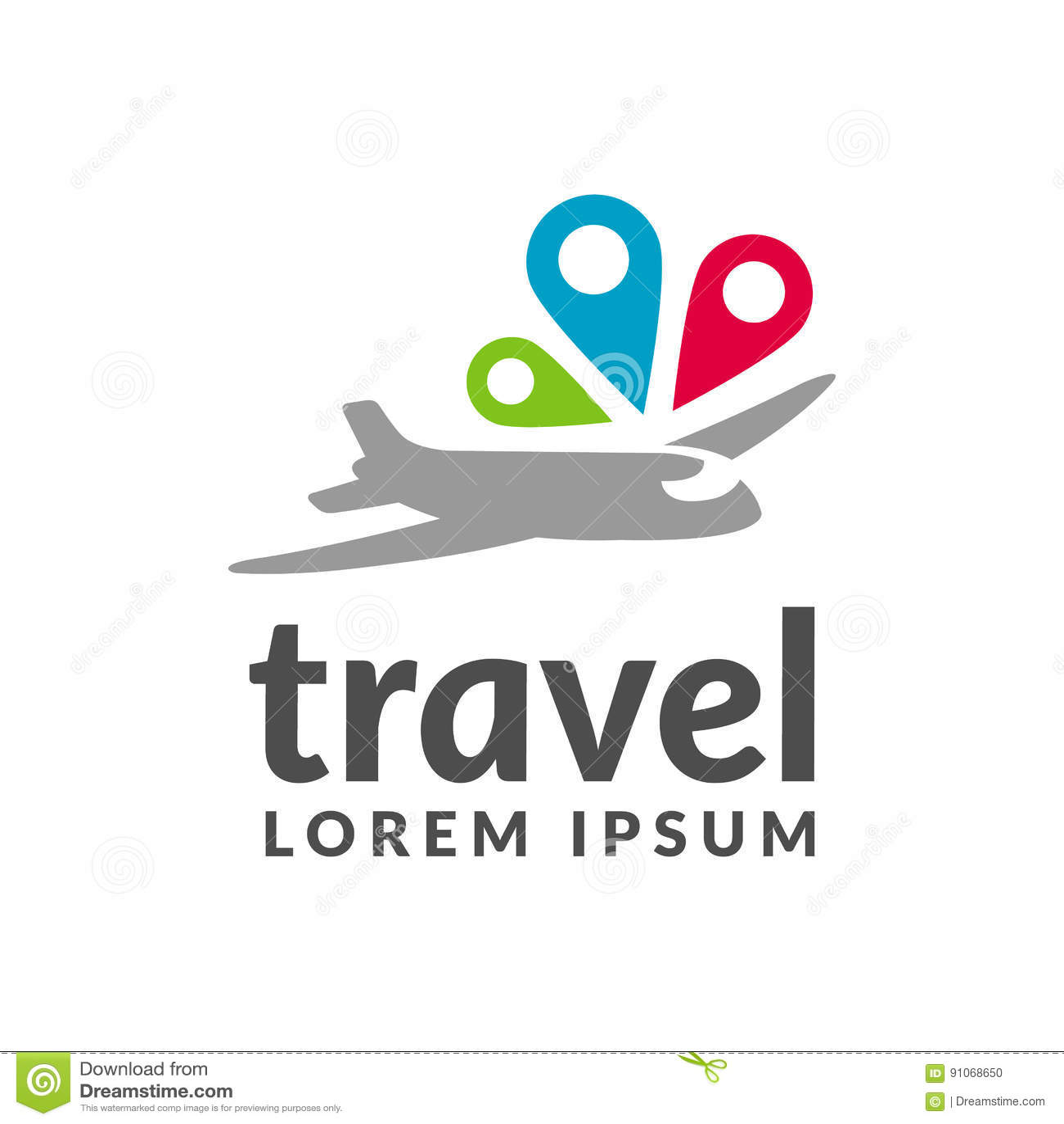 Air Travel Icon. Travel Logo. Pin Logo. Location On Map ...