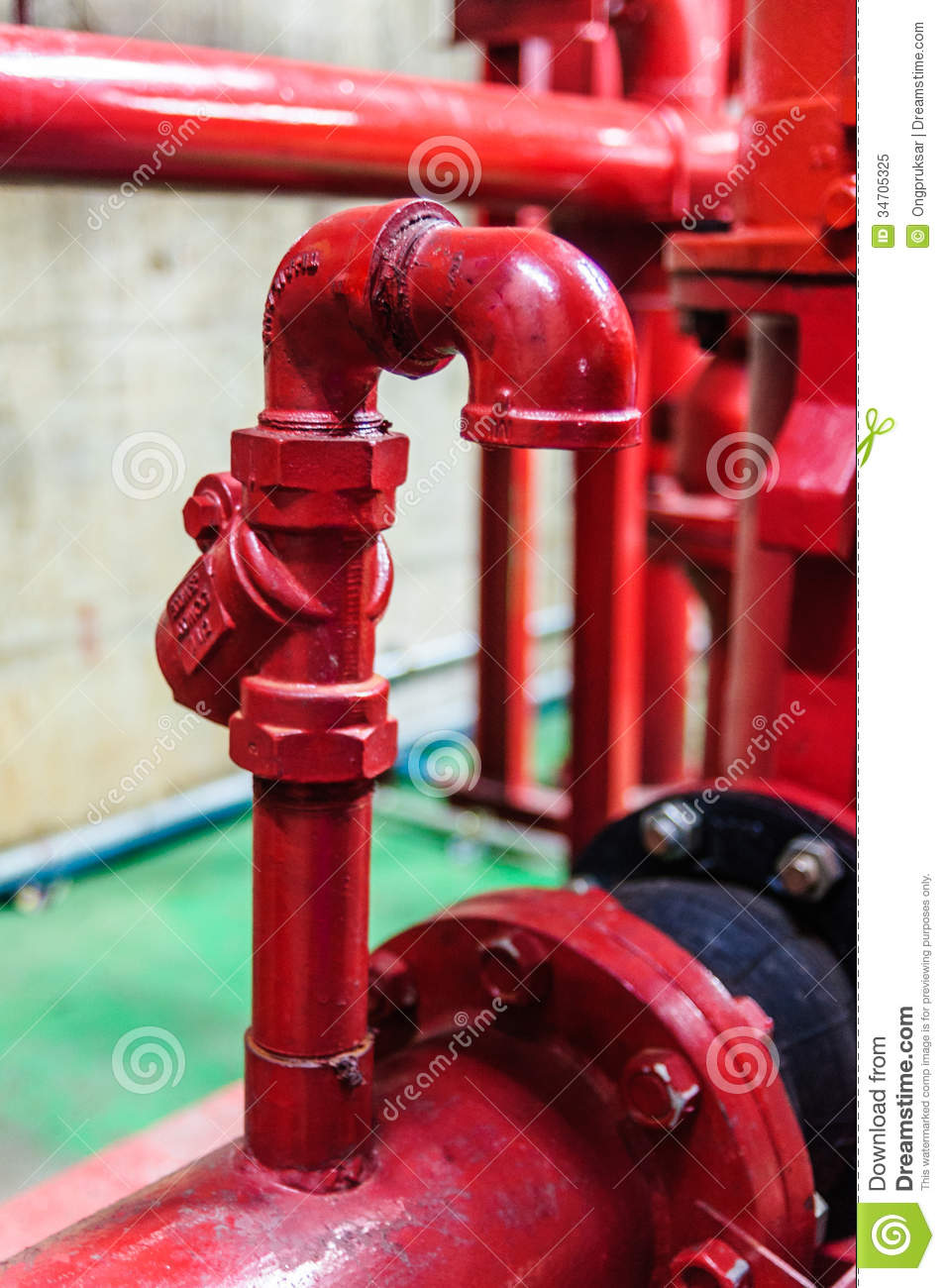 Air Vent Fire Piping Royalty Free Stock Photo Image