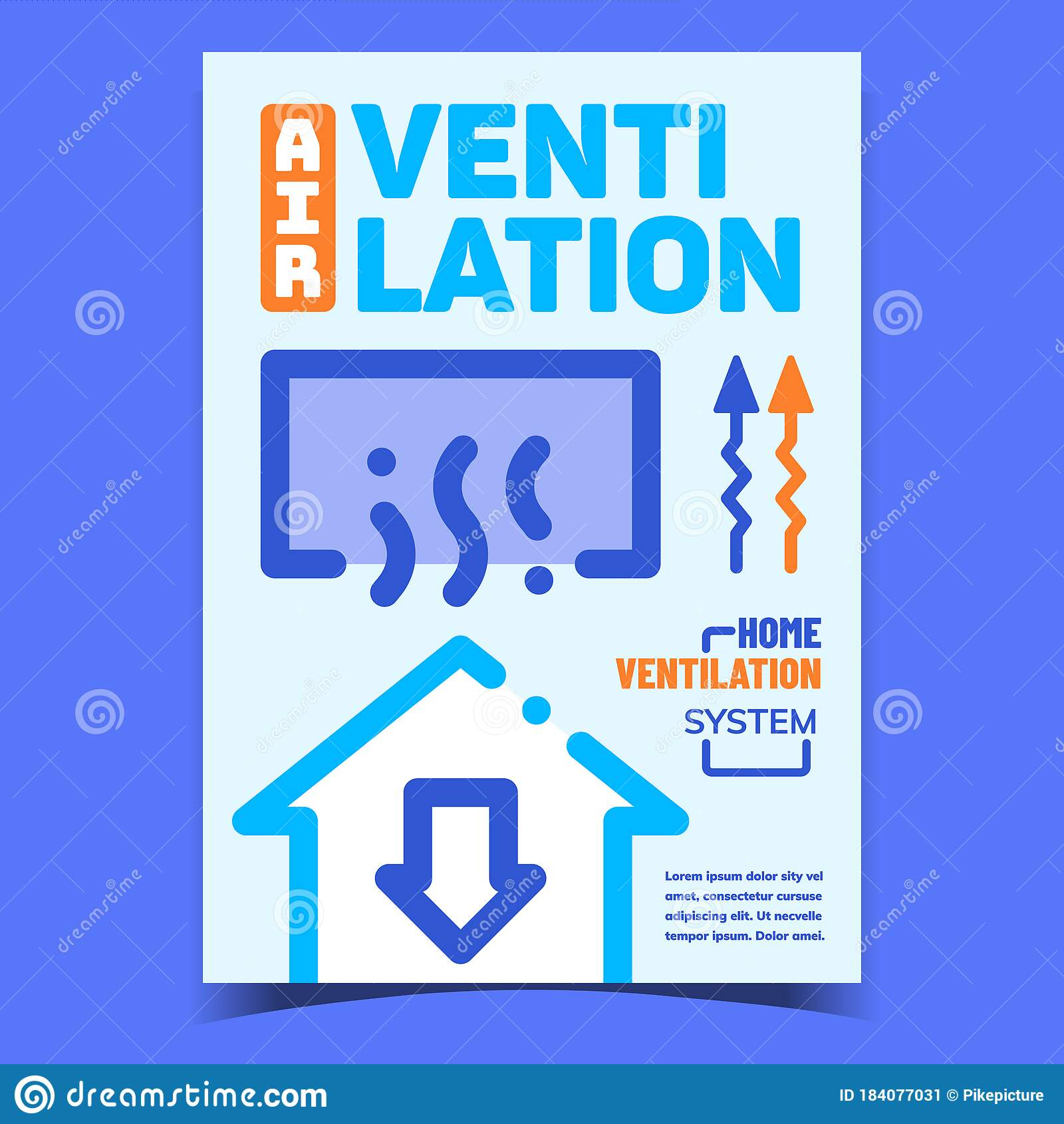 Air Ventilation Creative Advertising Banner Vector Stock Vector Illustration Of Concept Design 184077031