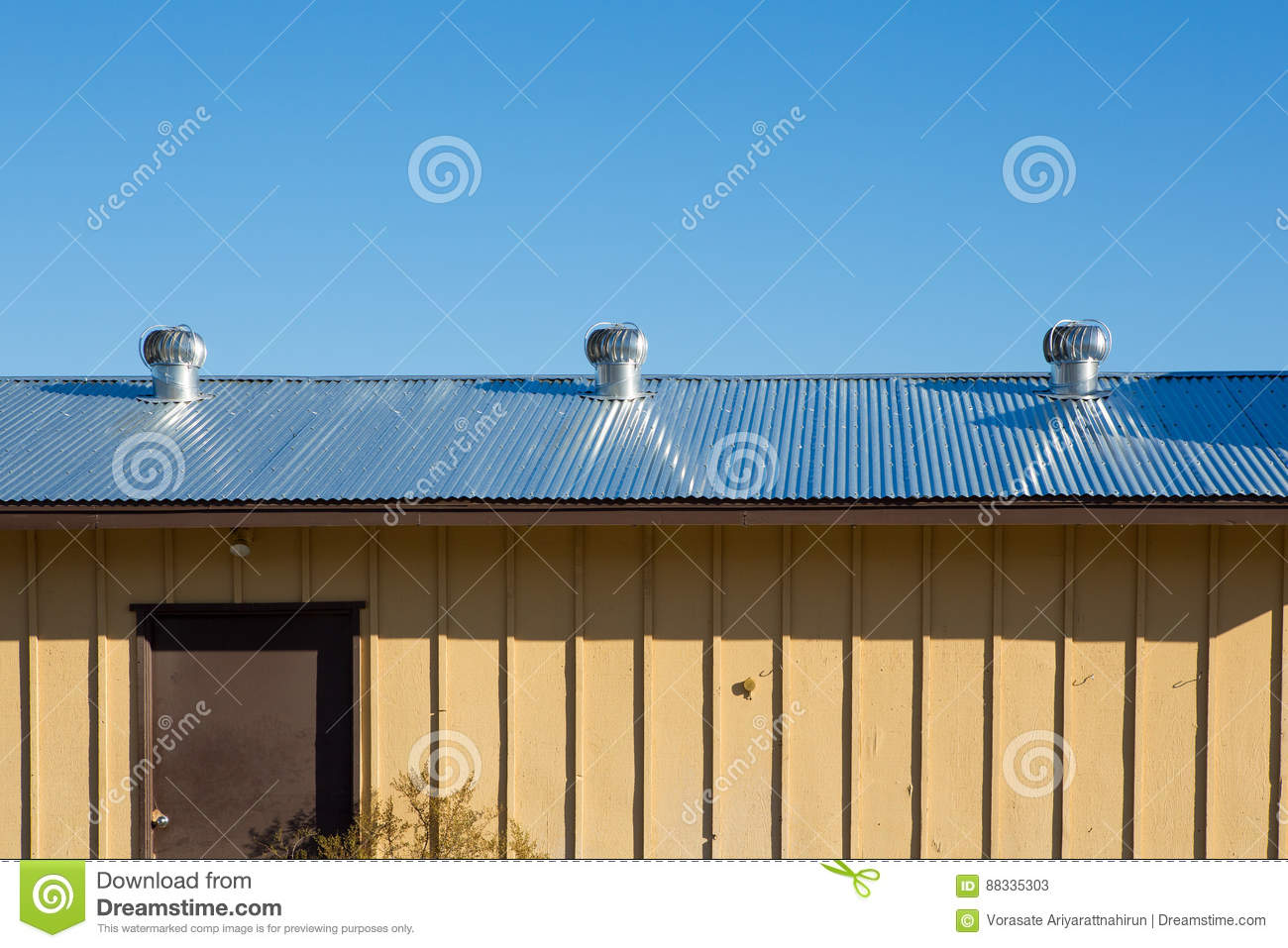 Roof Top Ventilators : Air ventilator on the roof of factory natural