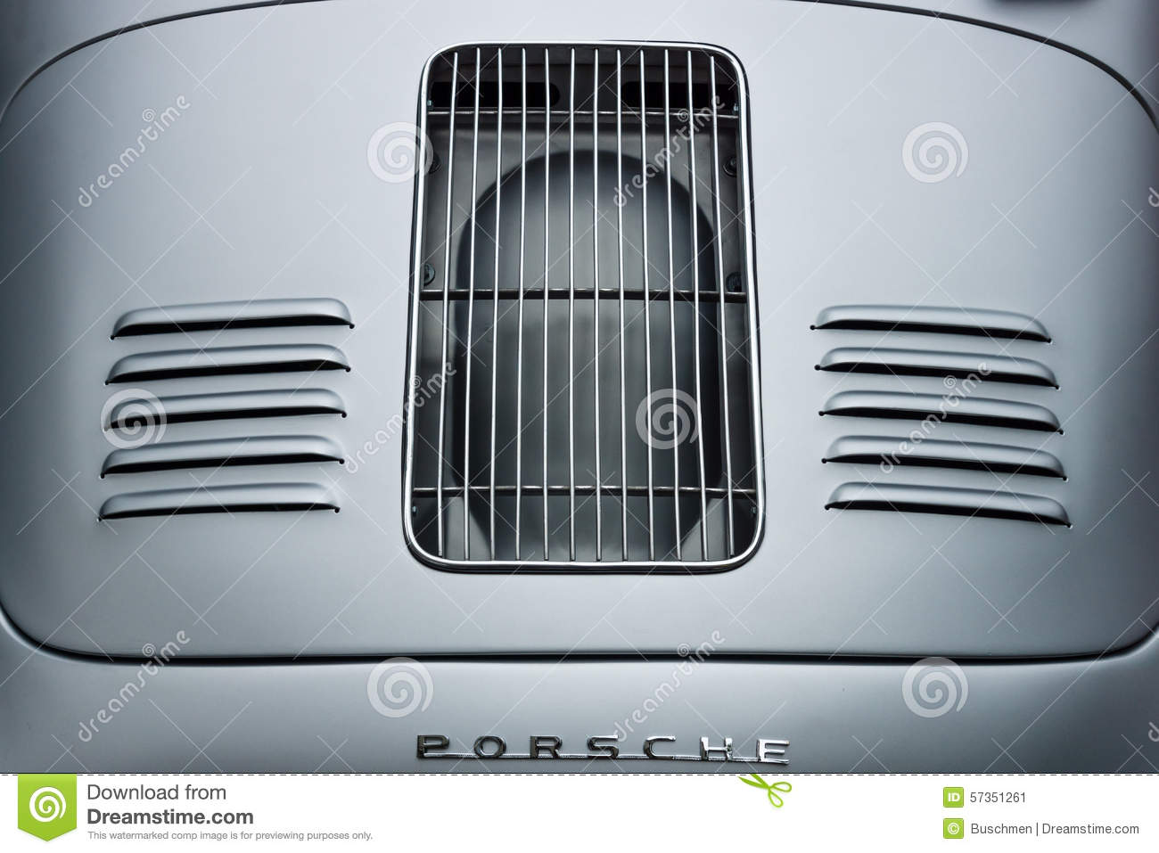 Air Vents Of The Engine Compartment Of A Sports Car Porsche 356 Speedster Editorial Photo