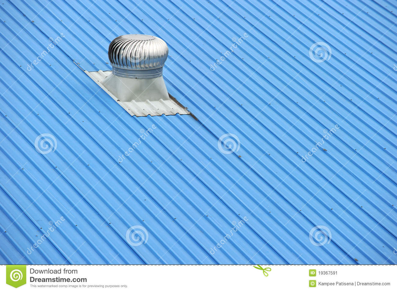 Air Vents On Top Of A Blue Roof Stock Image Image: 19367591 #136AB8