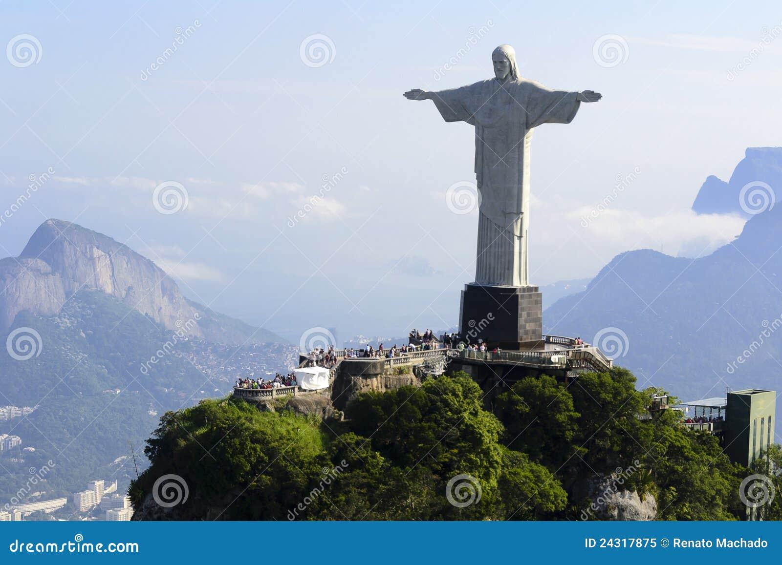 Air view cristo redentor - Rio De Janeiro - Brazil