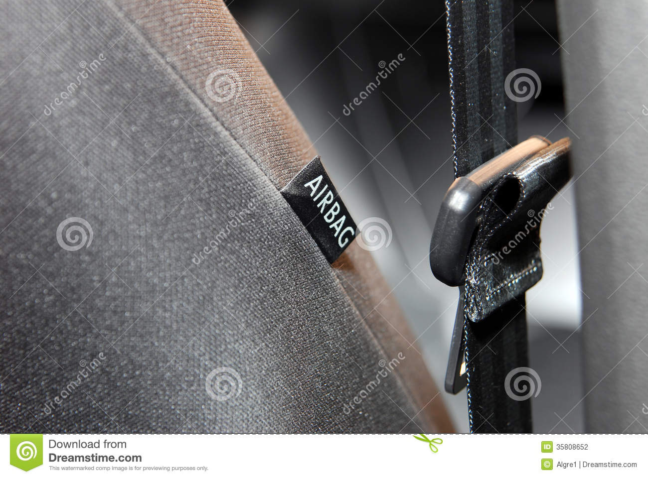 airbag simbol on the car seat stock photo image 35808652. Black Bedroom Furniture Sets. Home Design Ideas