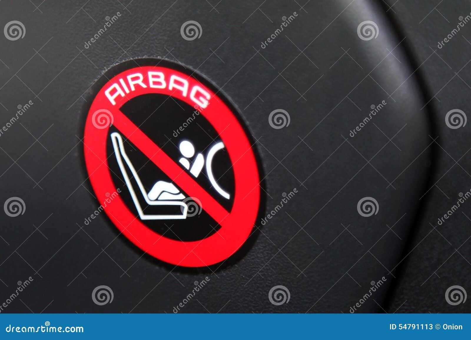 Airbag sticker