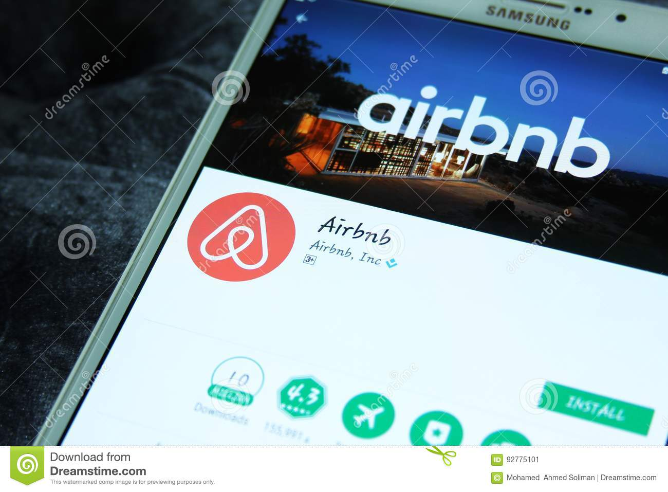 Airbnb App Editorial Photo Image Of Discoveries Icon 92775101