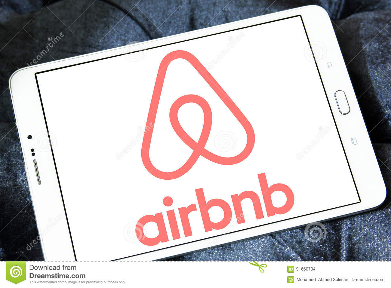 Airbnb logo editorial stock image  Image of hospitality
