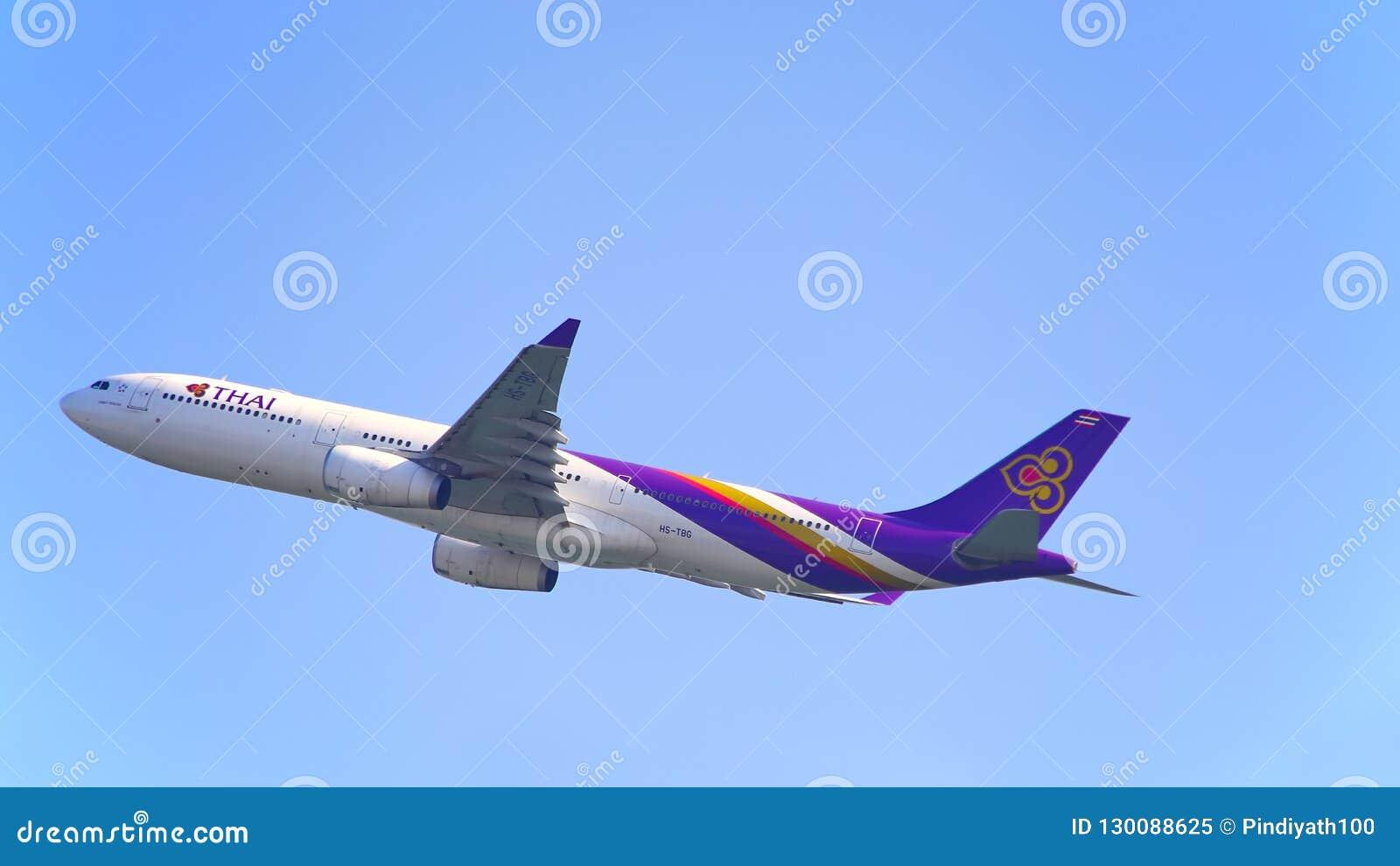 Airbone de los aviones de Thai Airways