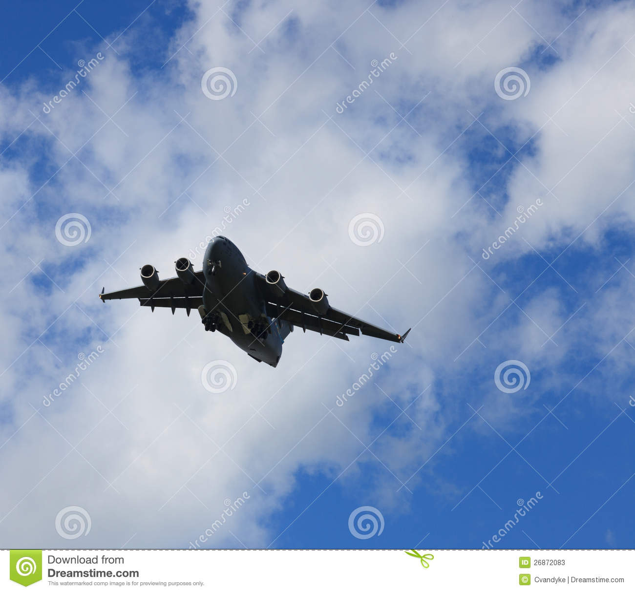 C 17 On Aircraft Carrier Airborne USAF C17 Carg...