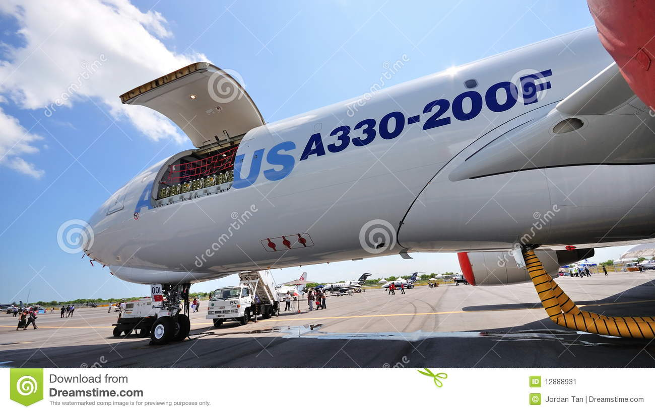 Airbus A330 200f Freighter Plane At Airshow 2010 Editorial