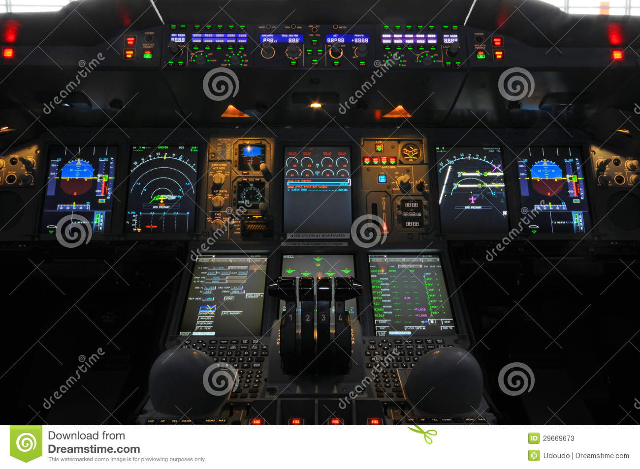 Airbus A380 Cockpit Stock Photos Image 29669673