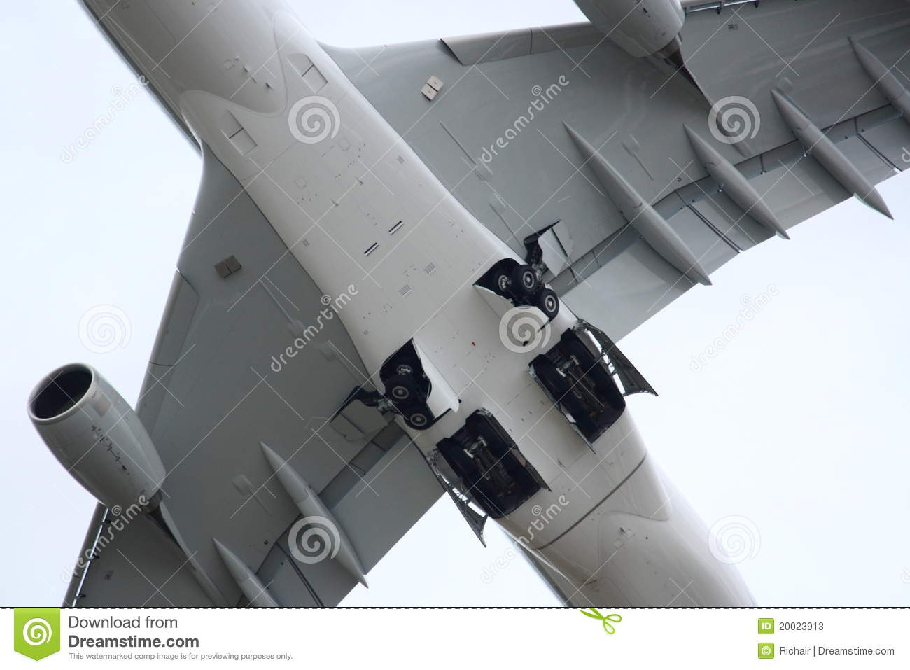 Airbus A380 Retracting Main Gear Editorial Stock Photo