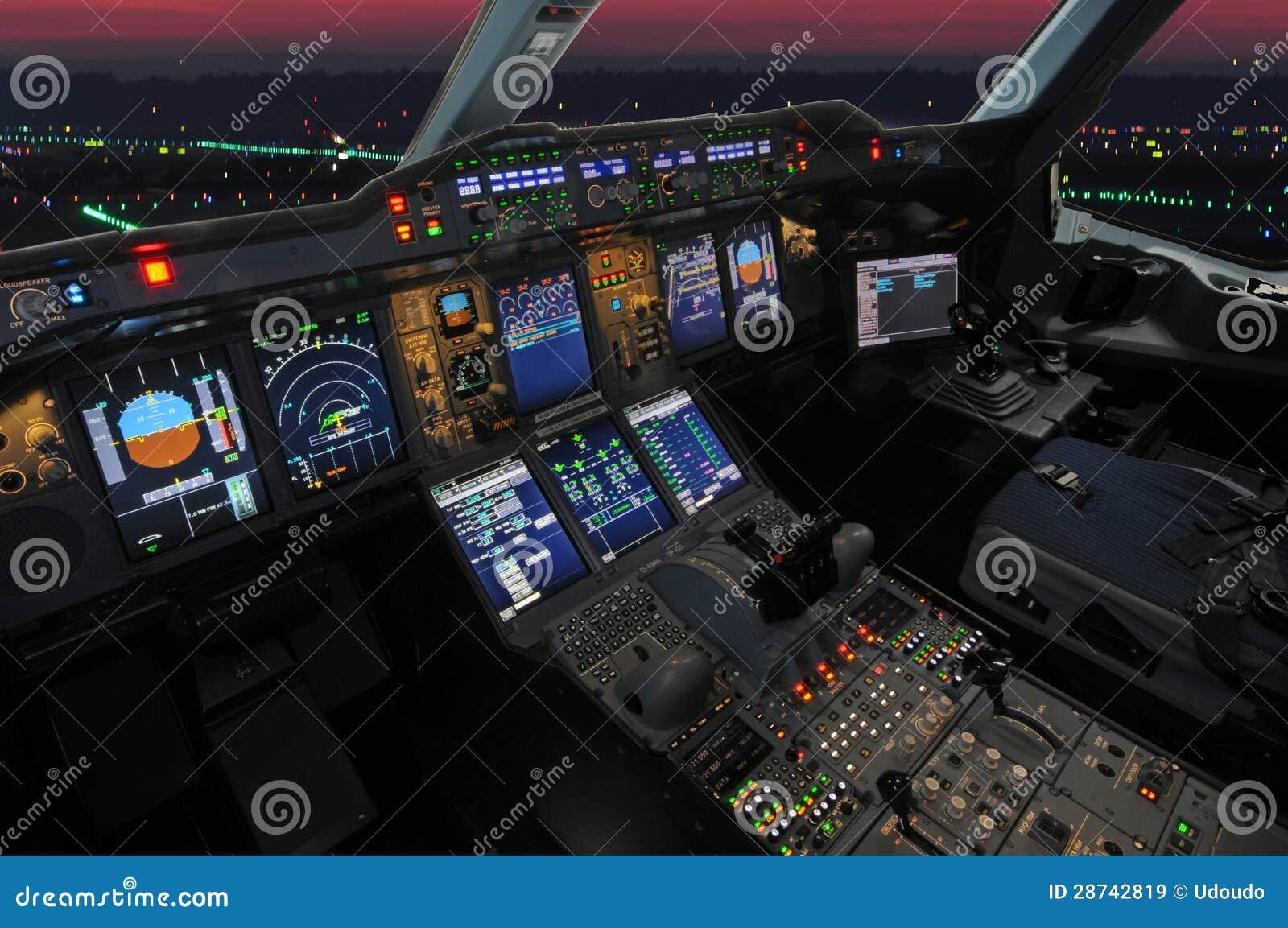 Airbus Cockpit Panel Screen