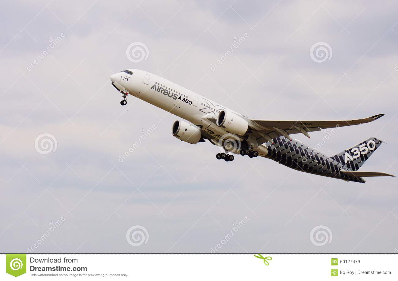 An airbus a350 jet airplane editorial stock image image for Salon de bourget