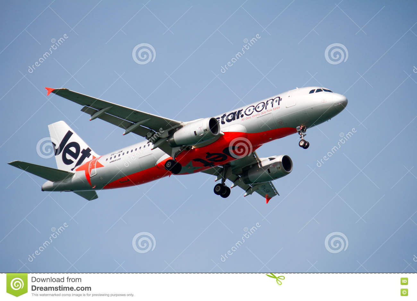 Airbus A320 Landing