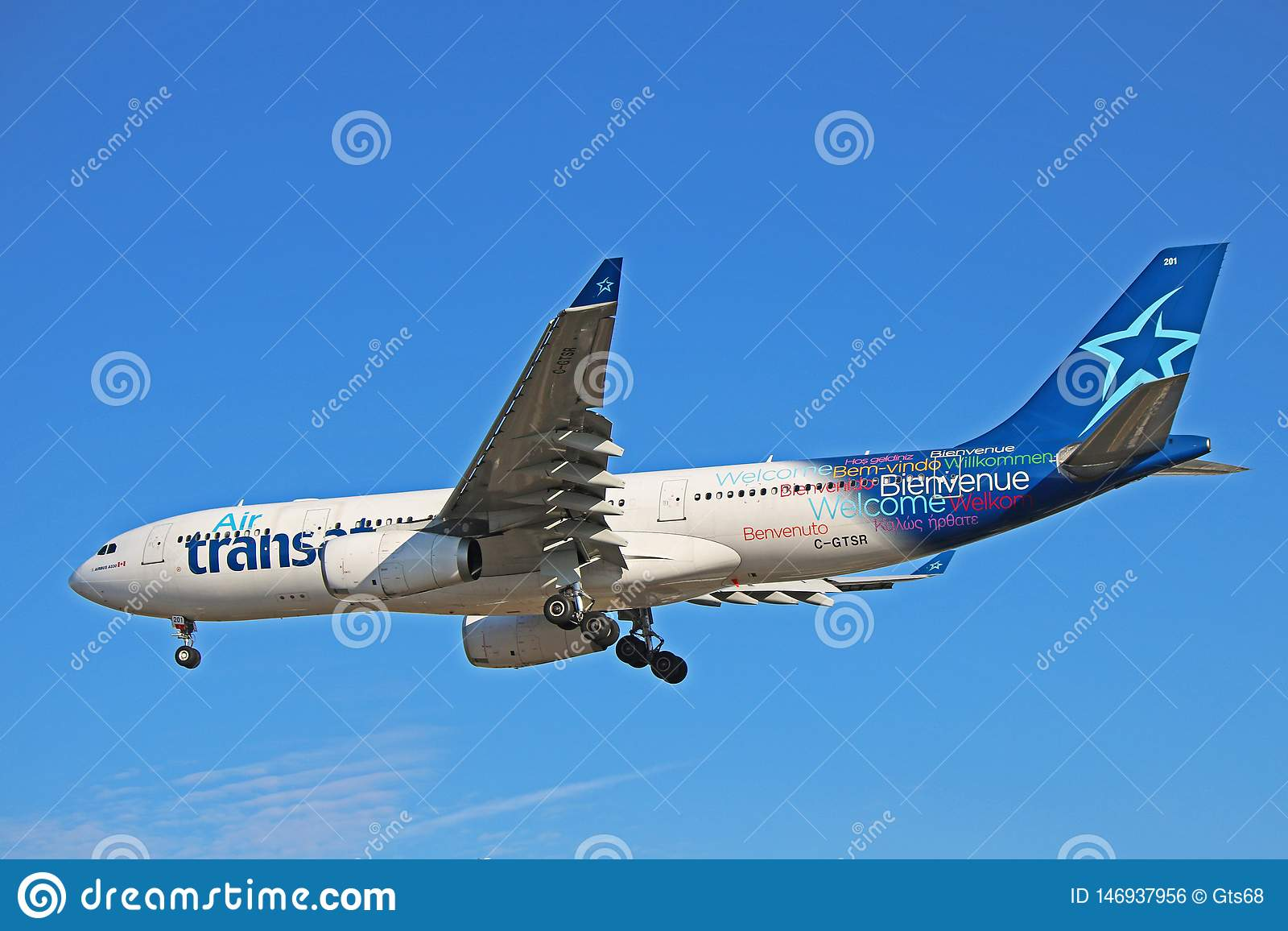 Airbus A330-200 In The Older Livery Of Air Transat Editorial