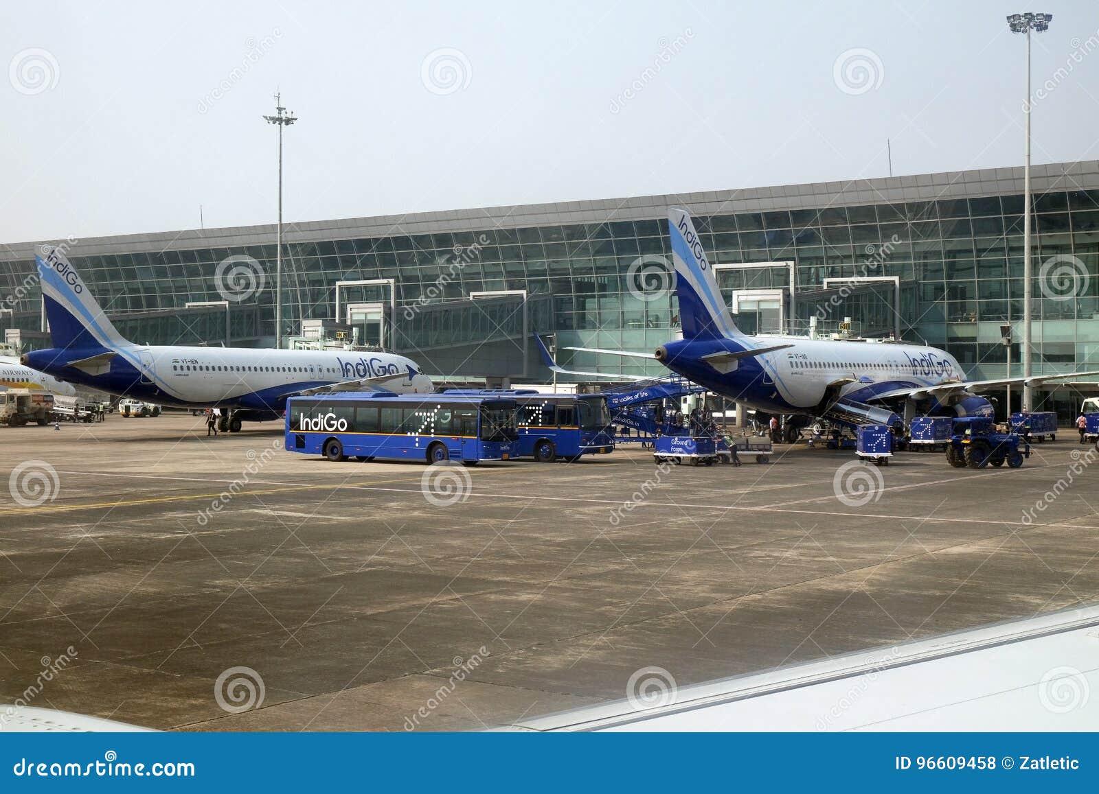 Airbus A Operated By Indigo At Kolkata International Airport