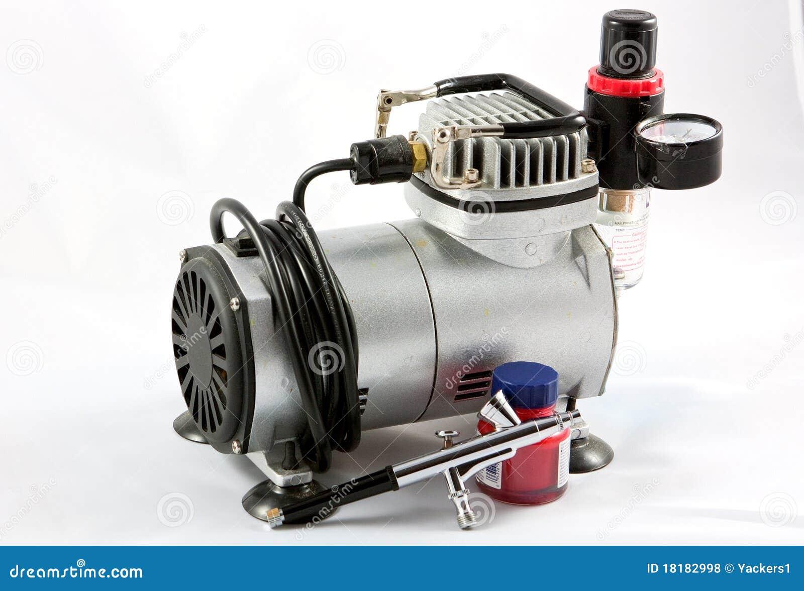 Airbush en kleine compressor