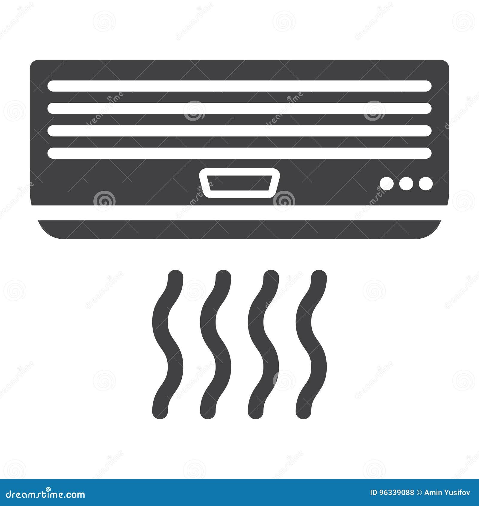 Airconditioner stevig pictogram, elektrisch en toestel