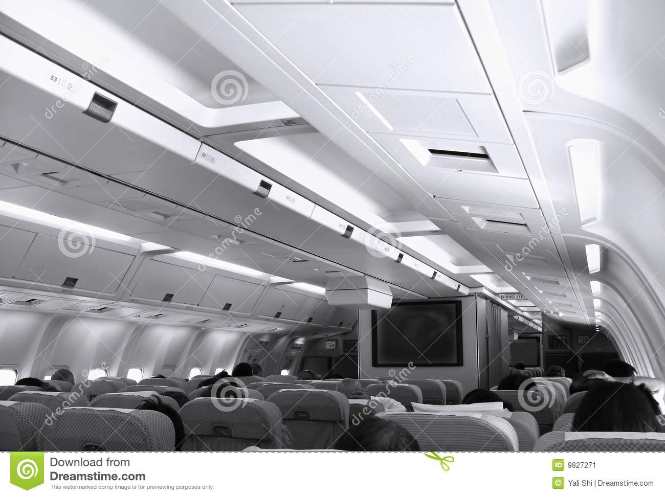 Aircraft cabin view stock image image 9827271 Airplane cabin noise