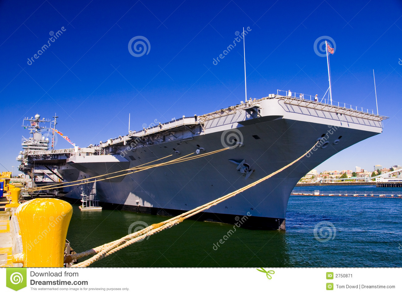 Aircraft Carrier Docked