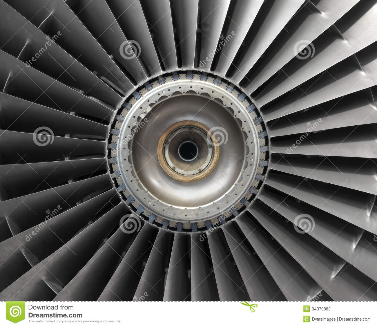 Jet Engine Fan Blades : Aircraft engine blades stock image of grey