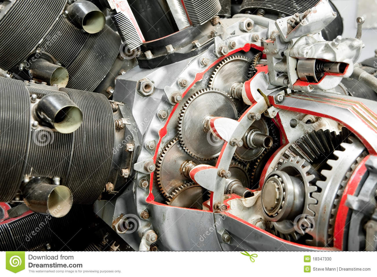 Download Aircraft engineering stock photo. Image of aircraft, cylinder - 18347330