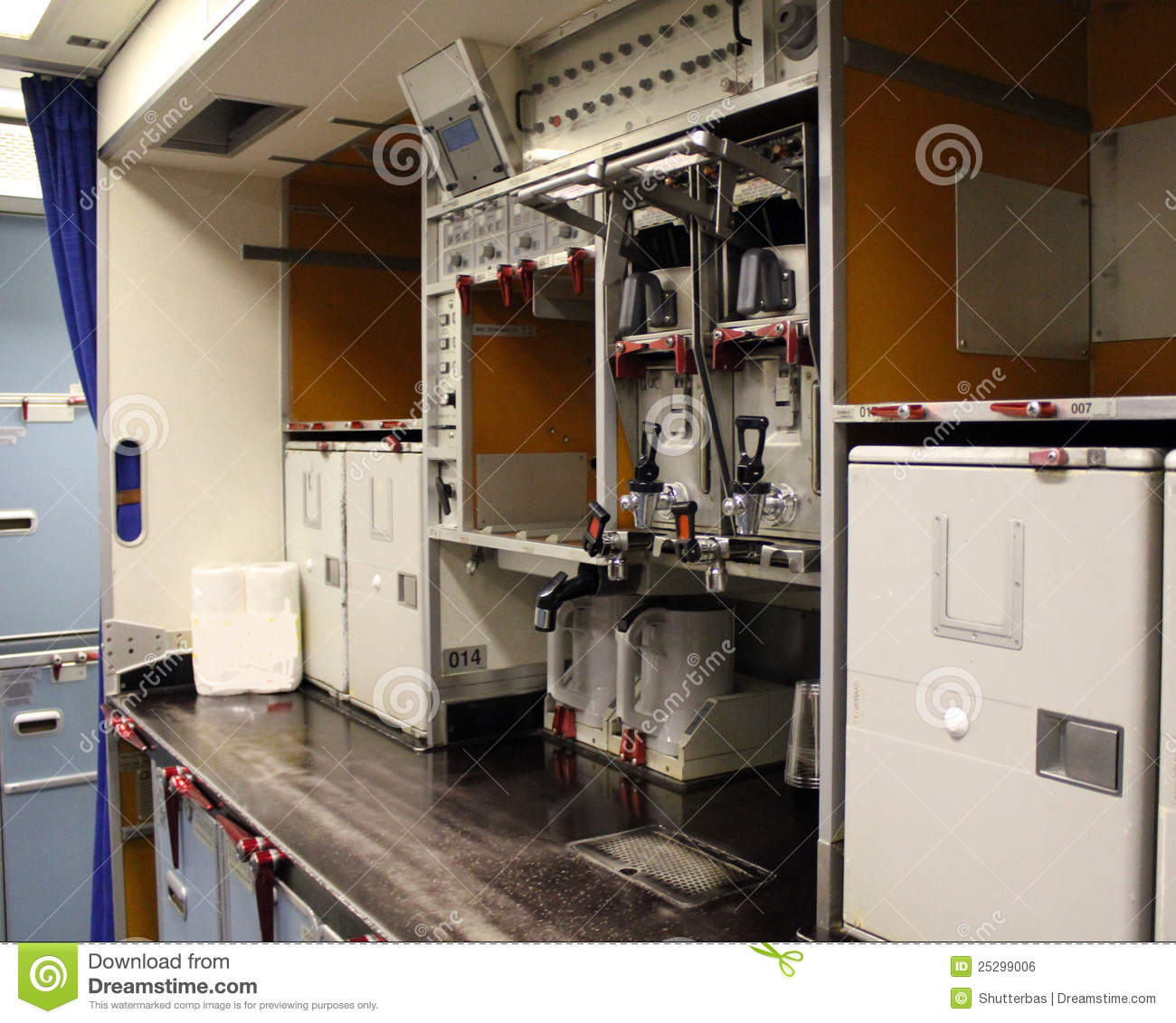 galley in aircraft aircraft galley stock photo image of empty economy 387