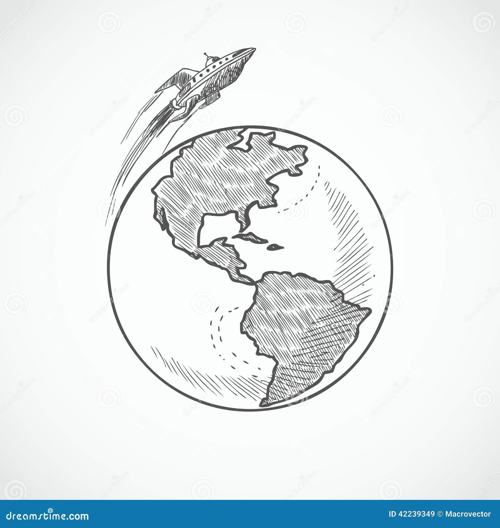 aircraft icons globe stock vector image 42239349
