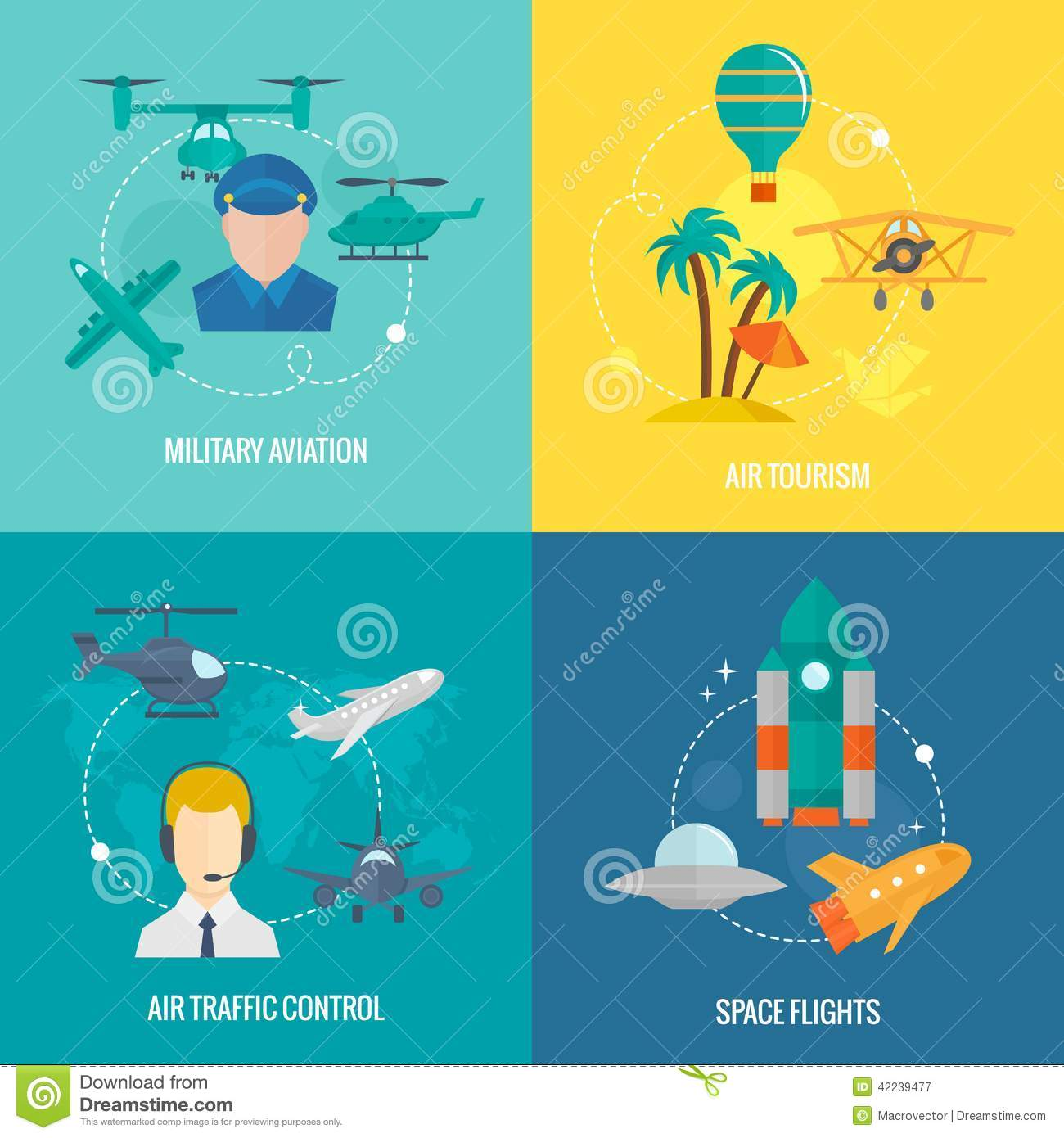 Aircraft icons set stock vector image 42239477 for Design a plane online