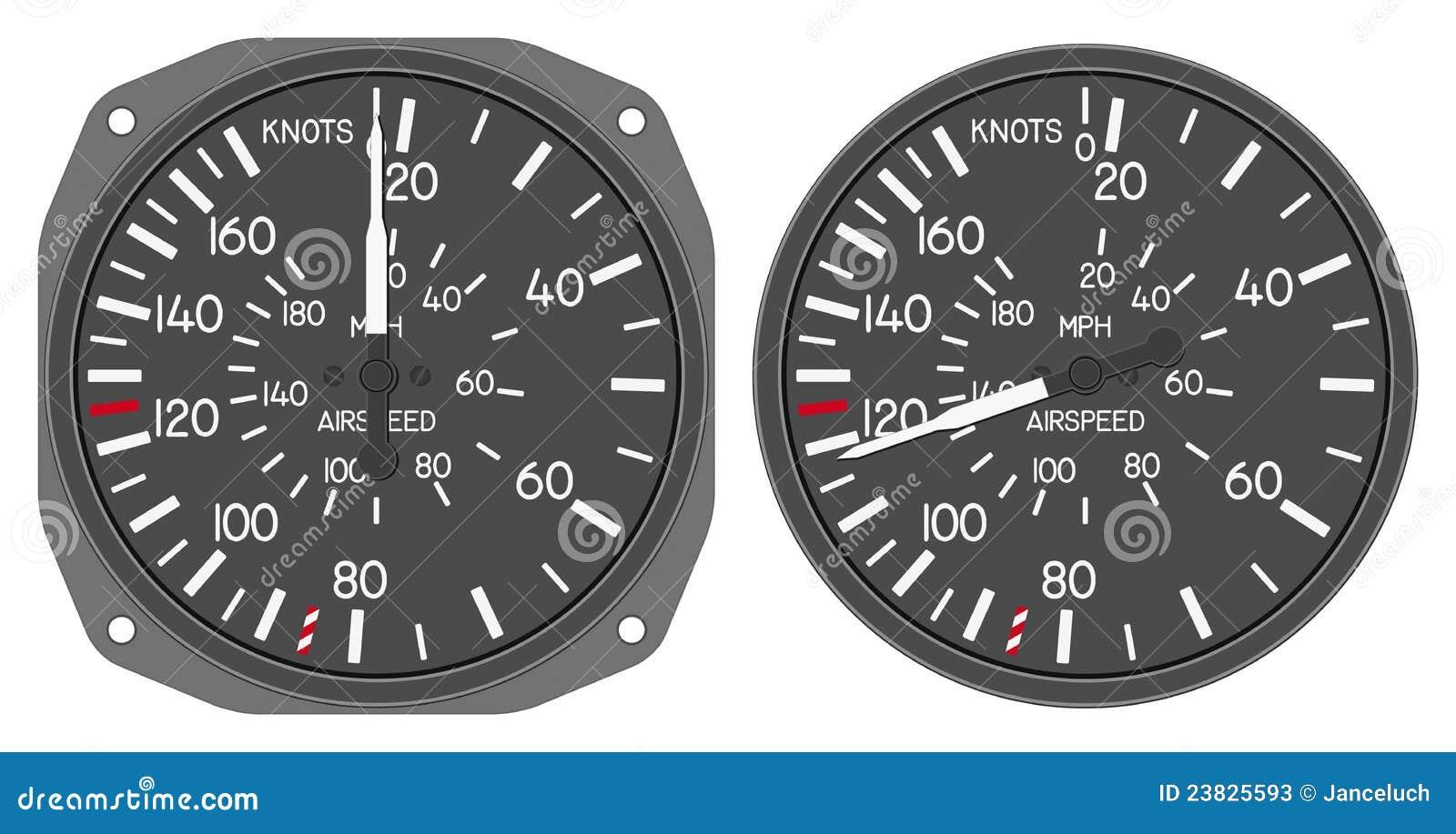 Aircraft Indicators 5 - 480B Dashboard Set Stock