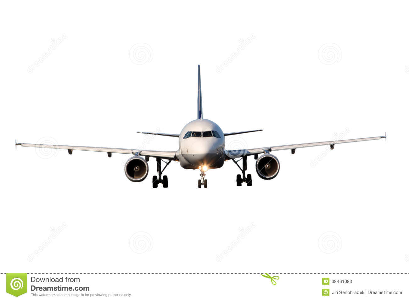 Aircraft Isolated On White Background Stock Photos - Image: 38461083