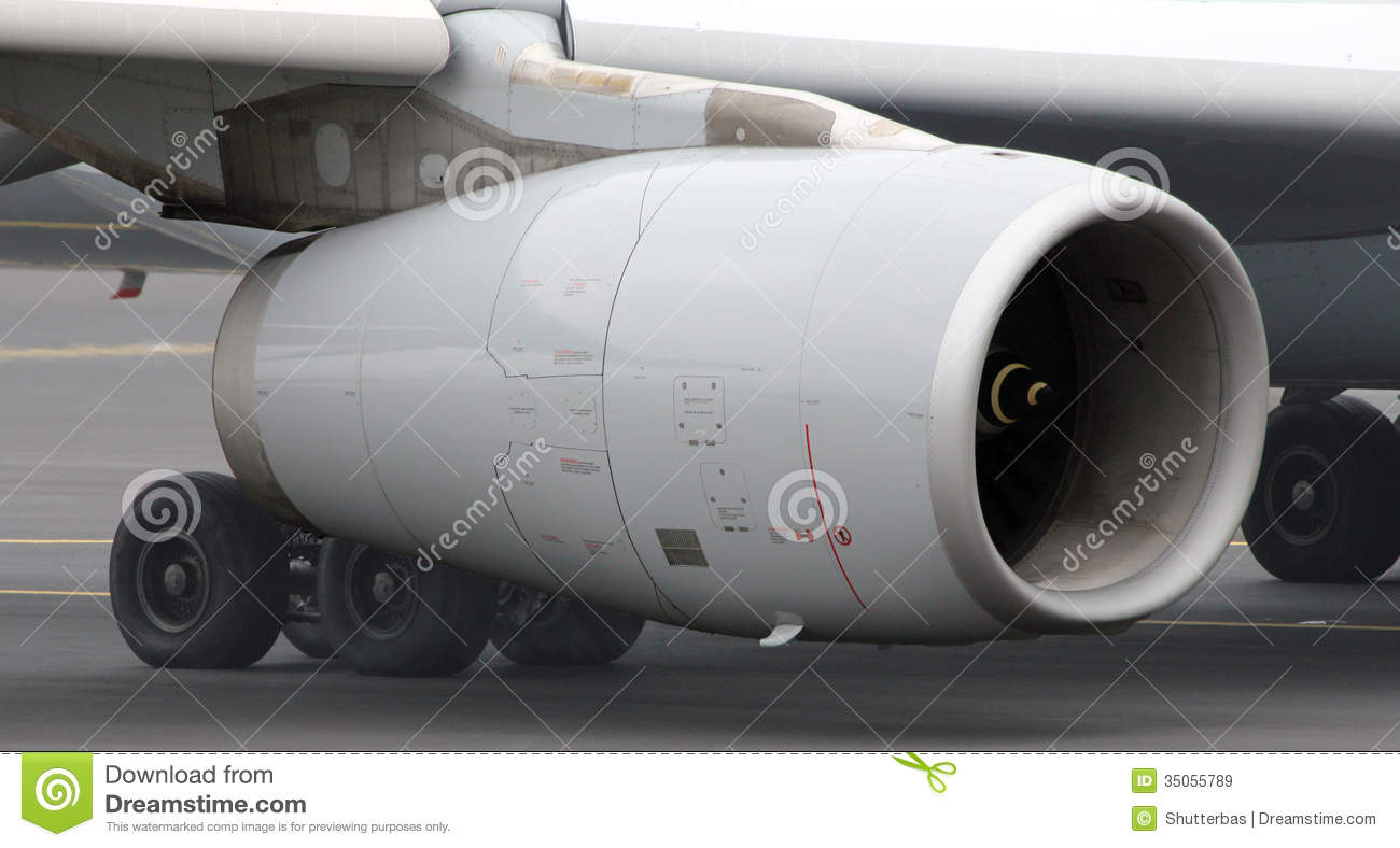 Aircraft Jet Engine Close Up Royalty Free Stock Images - Image: 35055789
