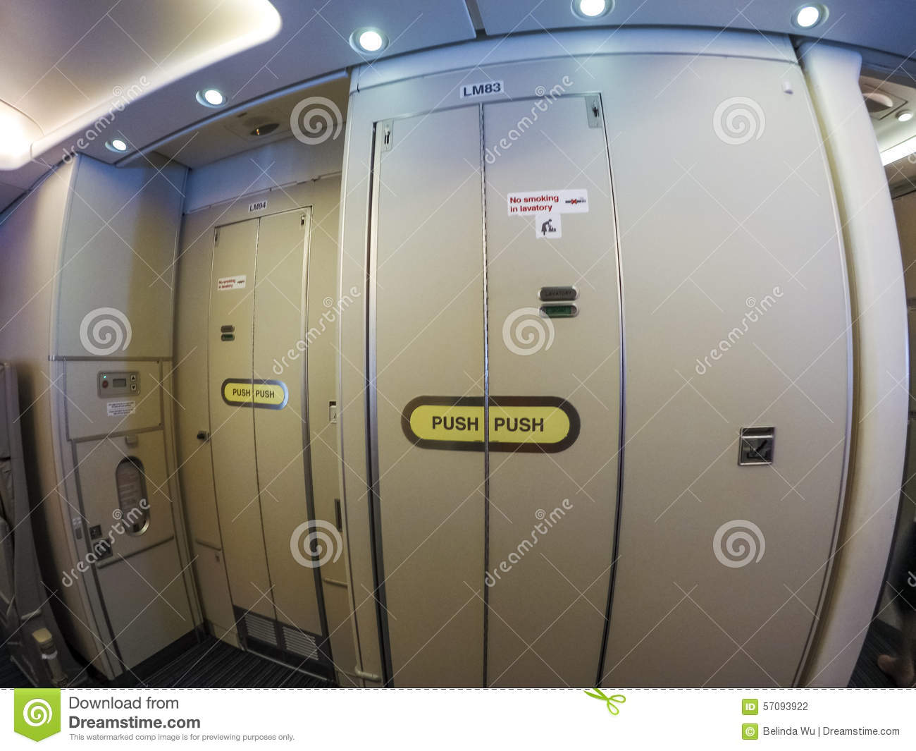 Aircraft Lavatory Stock Photo - Image: 57093922