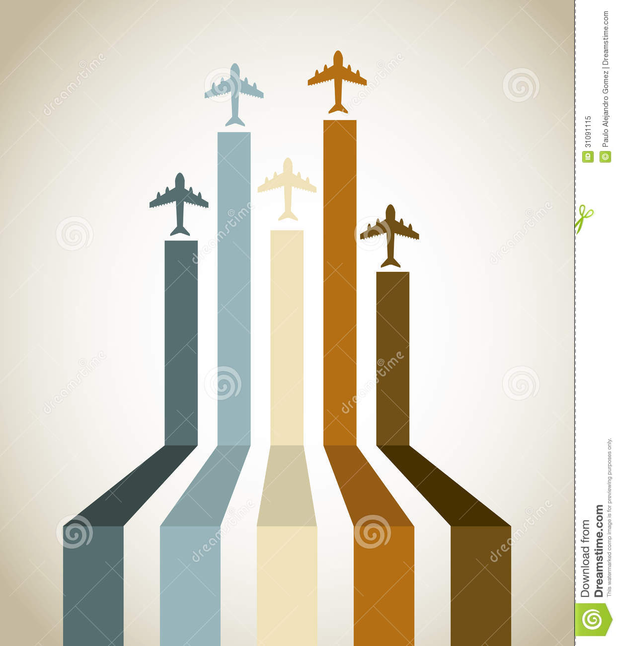 Free Vector Illustration Juniper: Aircraft Line Stock Vector. Illustration Of Colorful