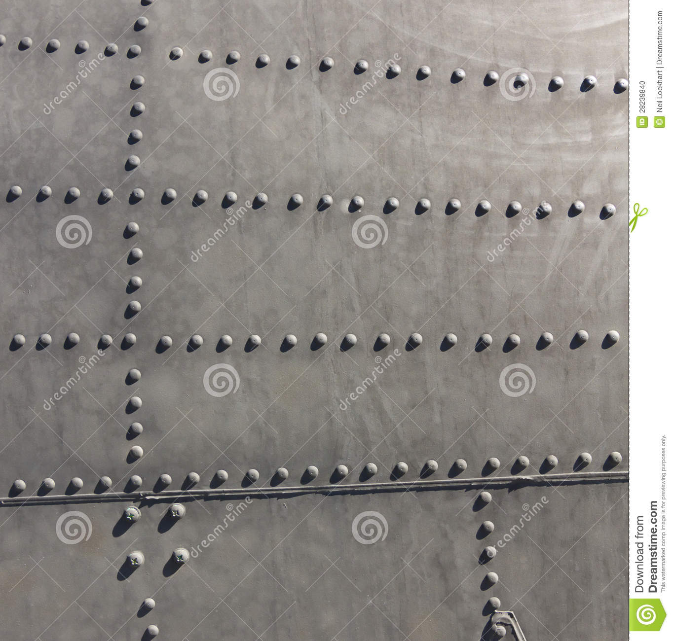 Aircraft Metal Bolt Pattern Stock Photo Image Of Lines