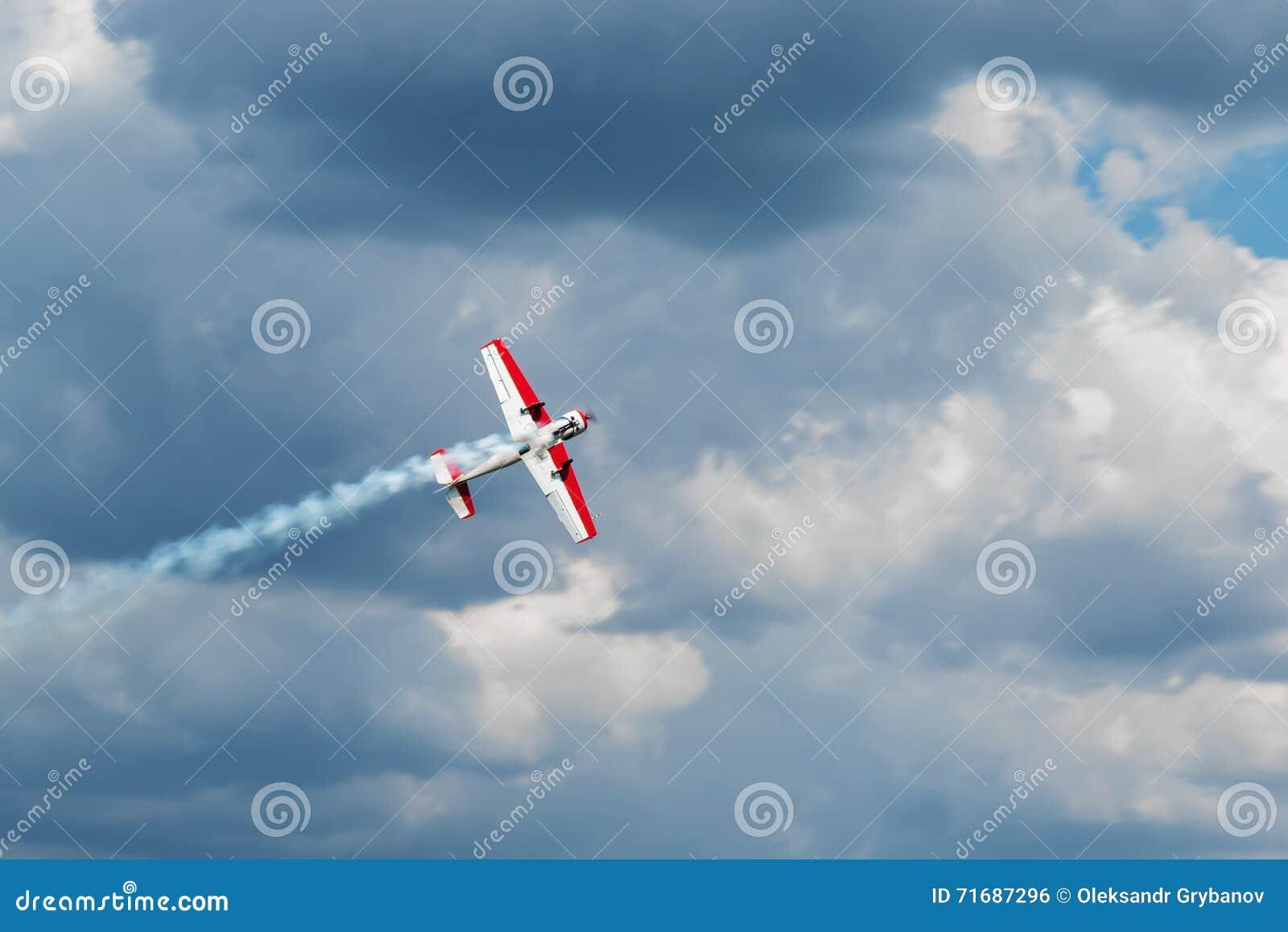 Aircraft produces fumes