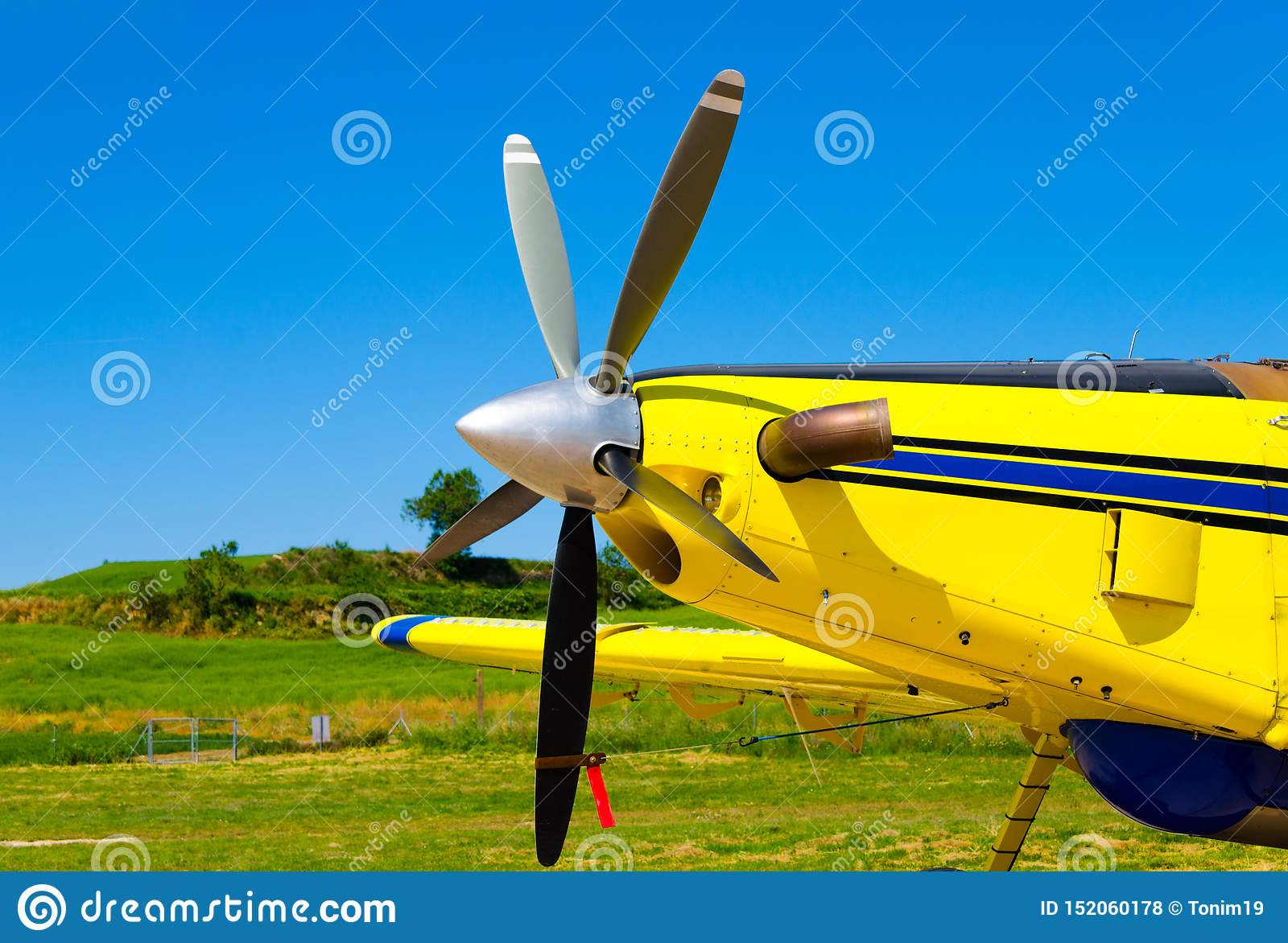 Aircraft propellers, motor with propeller blades