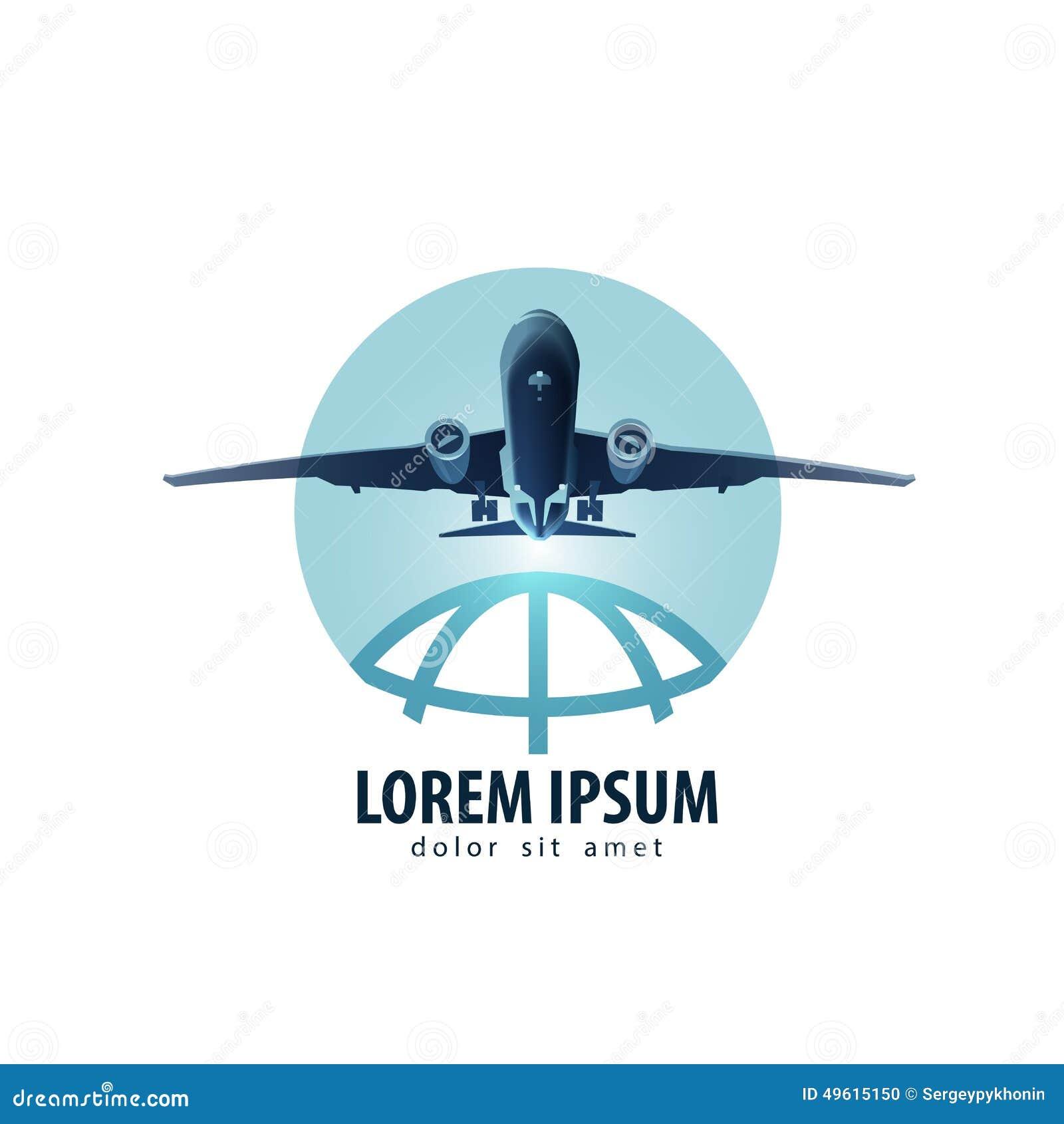Aircraft Vector Logo Design Template. Vacation Or Stock Vector ...