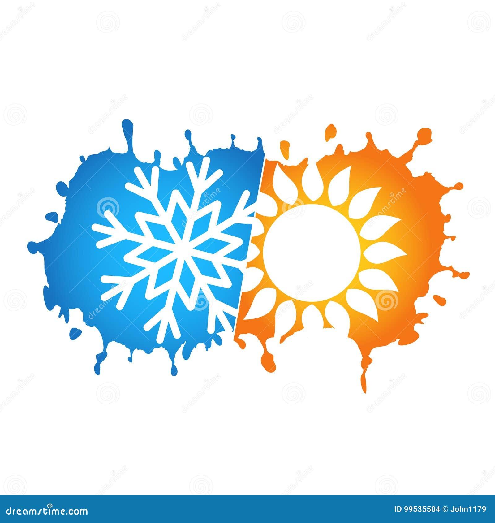 Simbolo de calefaccion en aire acondicionado